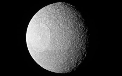 New Image of Saturn's Moon Tethys (Death Star?)