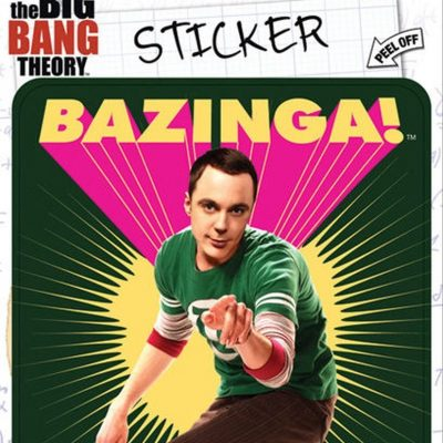 Ata-Boy Big Bang Theory Bazinga With Sheldon Sticker